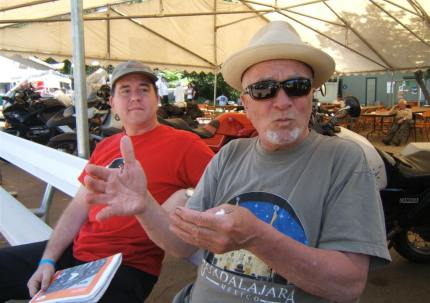 Brian Halton (right), publisher and editor of CITY BIKE magazine, was at the 49er Rally.