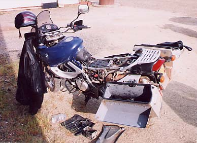 A broken BMW F650 - electrical problems.