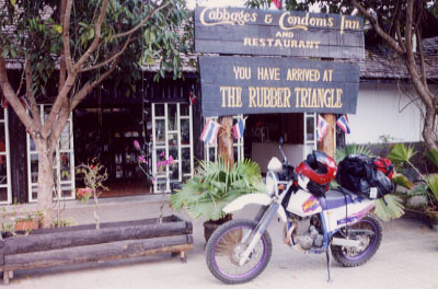 "No secret in Northern Thailand is the ""Rubber Triangle,"" home of the Cabbages and Condoms Inn and Restaurant."