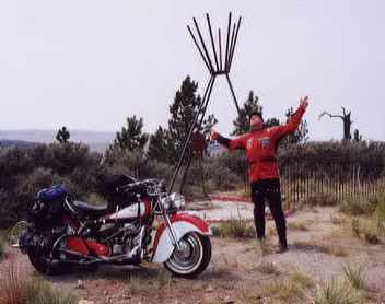 Greg and Indian Chief at Chief Plenty Coups Memorial
